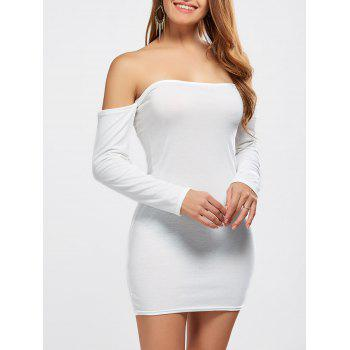 Off The Shoulder Mini Long Sleeve Bodycon Dress