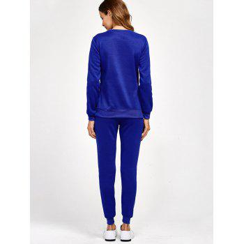 Side Slit High Low Sweatshirt and Pants - XL XL