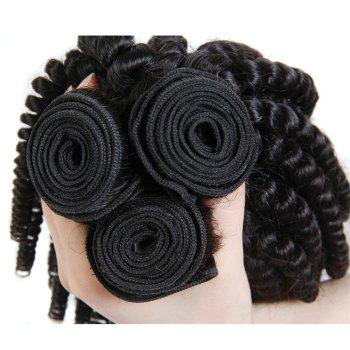 1 Pc/Lot Bouncy Curly 5A Remy Brazilian Hair Weave - BLACK 10INCH