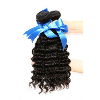 1 Pc/Lot Deep Wave 5A Remy Brazilian Hair Weave - BLACK BLACK