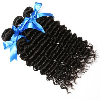 1 Pc/Lot Deep Wave 5A Remy Brazilian Hair Weave - BLACK 26INCH