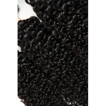 1 Pc/Lot Kinky Curly 5A Remy Brazilian Hair Weave - BLACK 10INCH