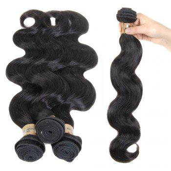 5A Remy 1 Pc/Lot Body Wave Brazilian Hair Weave - BLACK BLACK