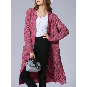 Single Breasted Knit Duster Cardigan