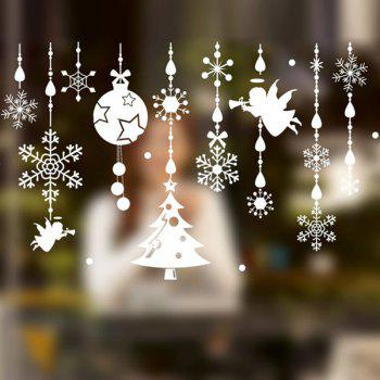 Merry Christmas DIY Pendants Removable Wall Stickers - WHITE