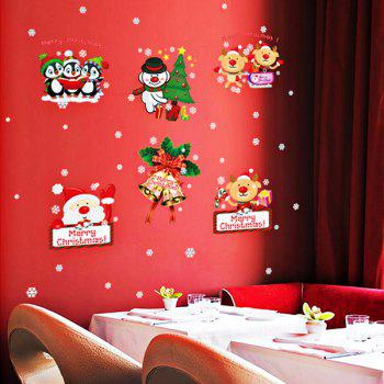 Merry Christmas DIY Removable Window Decor Wall Stickers - COLORFUL