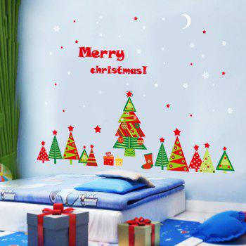 Merry Christmas DIY Removable Xmas Tree Wall Stickers - COLORFUL