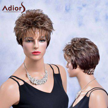 Adiors Layered Short Shaggy Neat Bang Straight Colormix Synthetic Wig