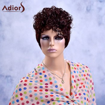 Adiors Short Curly Fluffy Full Bang Synthetic Wig