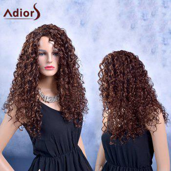 Adiors Long Curly Fluffy Side Parting Synthetic Wig