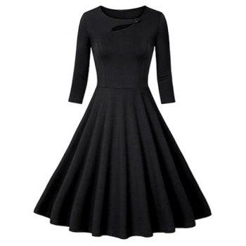 Flounce Fit and Flare Vintage Dress
