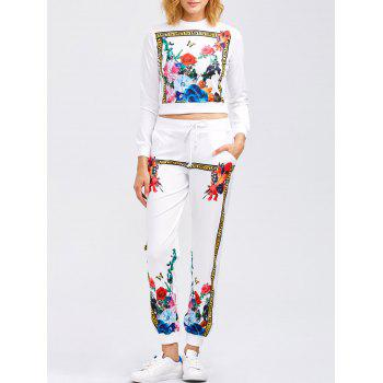Flower Print Sweatshirt and Jogger Pants