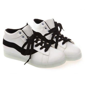 Lace Up Luminous Sneakers