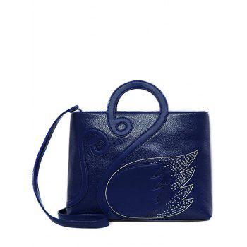 Textured Leather Stitching Wing Pattern Tote Bag