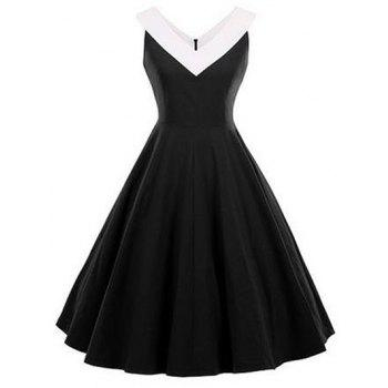 Fit and Flare Vintage Sleeveless Dress
