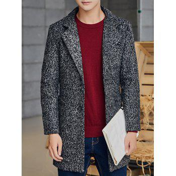 Heathered Patch Pocket Two Button Coat