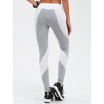 Stretchy Contrast Athletic Pants - M M