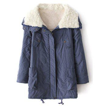 Lamb Wool String Zip-Up Coat