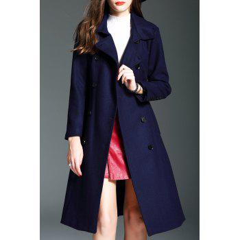 Double Breasted Walker Wool Blend Coat with Belt