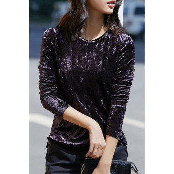 Velvet Long Sleeve Blouse
