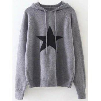 Star Graphic Hooded Sweater