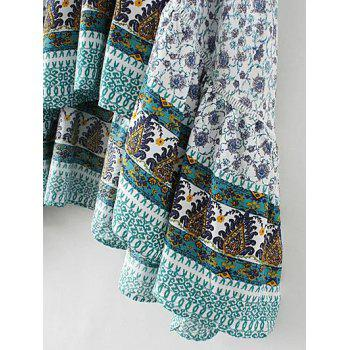 bohemian patterned high low maxi skirt white l in skirts