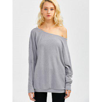 Bare Shoulder Batwing Sweater - S S
