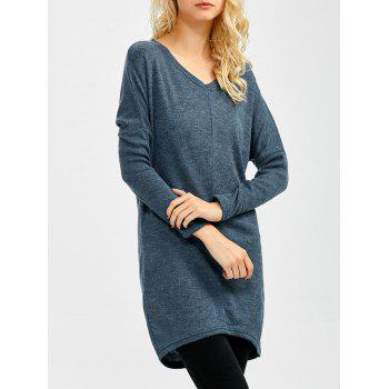 V Neck Longline Sweater