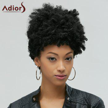 Fascinating Capless Short Afro Curly Synthetic Wig - BLACK