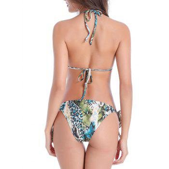 Snake Print String Moulded Bikini Set - COLORMIX L