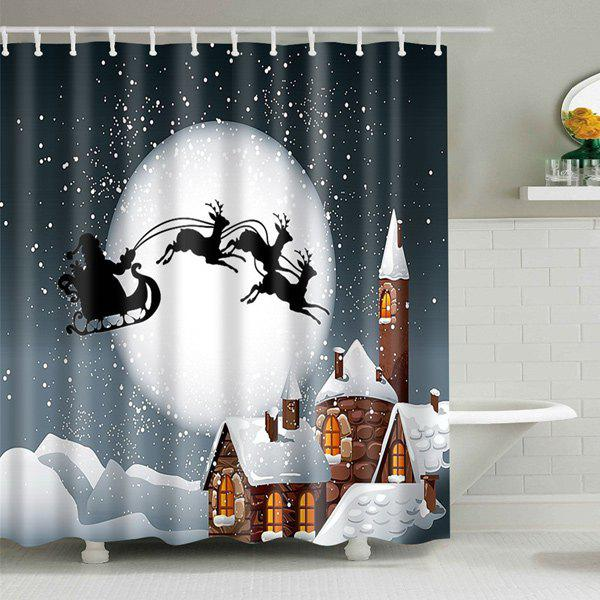 Bathroom Decor Christmas Eve Waterproof Shower Curtain - COLORMIX M