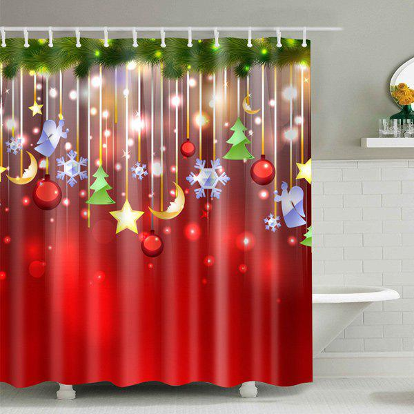 Christmas Waterproof Bathroom Shower Curtain merry christmas waterproof shower curtain bathroom decoration