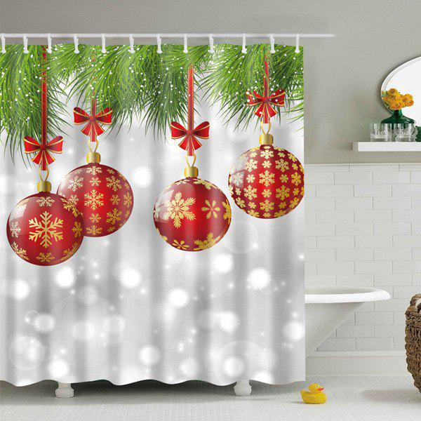 Merry Christmas Bathroom Wish Collection Holiday Fabric Shower Curtain 70 X 72