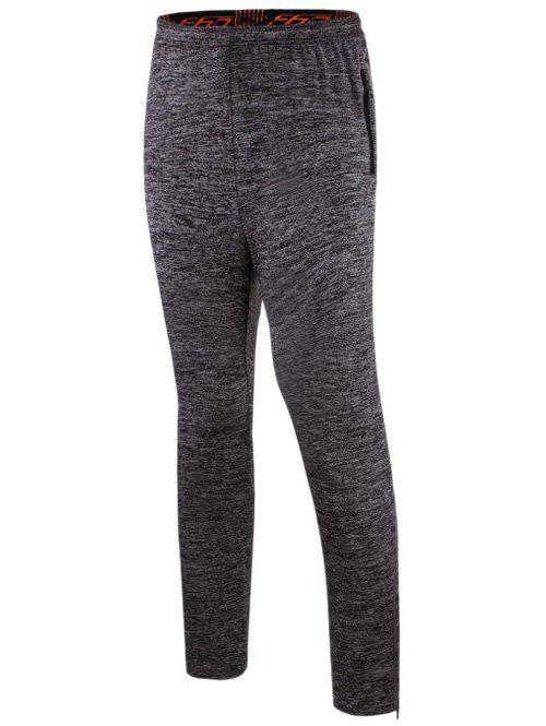 Athletic Pants with Zip - GRAY M