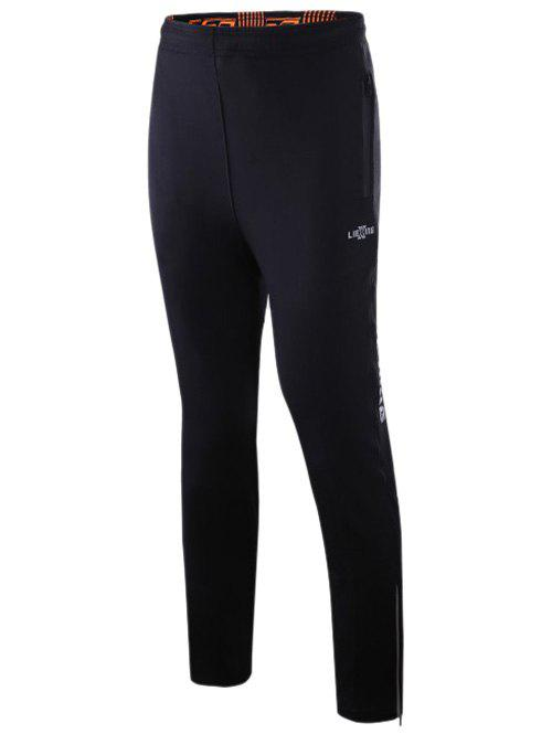 Athletic Pants with Zip - BLACK XL