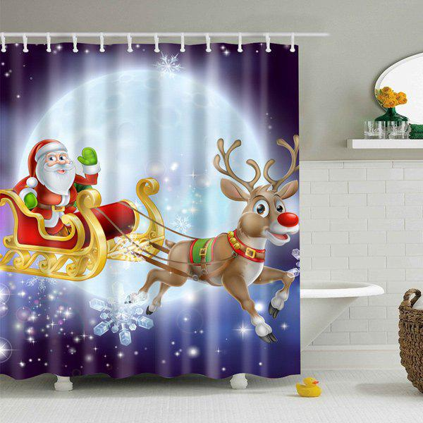 Santa Elk Printed Polyester Waterproof Shower Curtain nature scenery printed polyester waterproof shower curtain