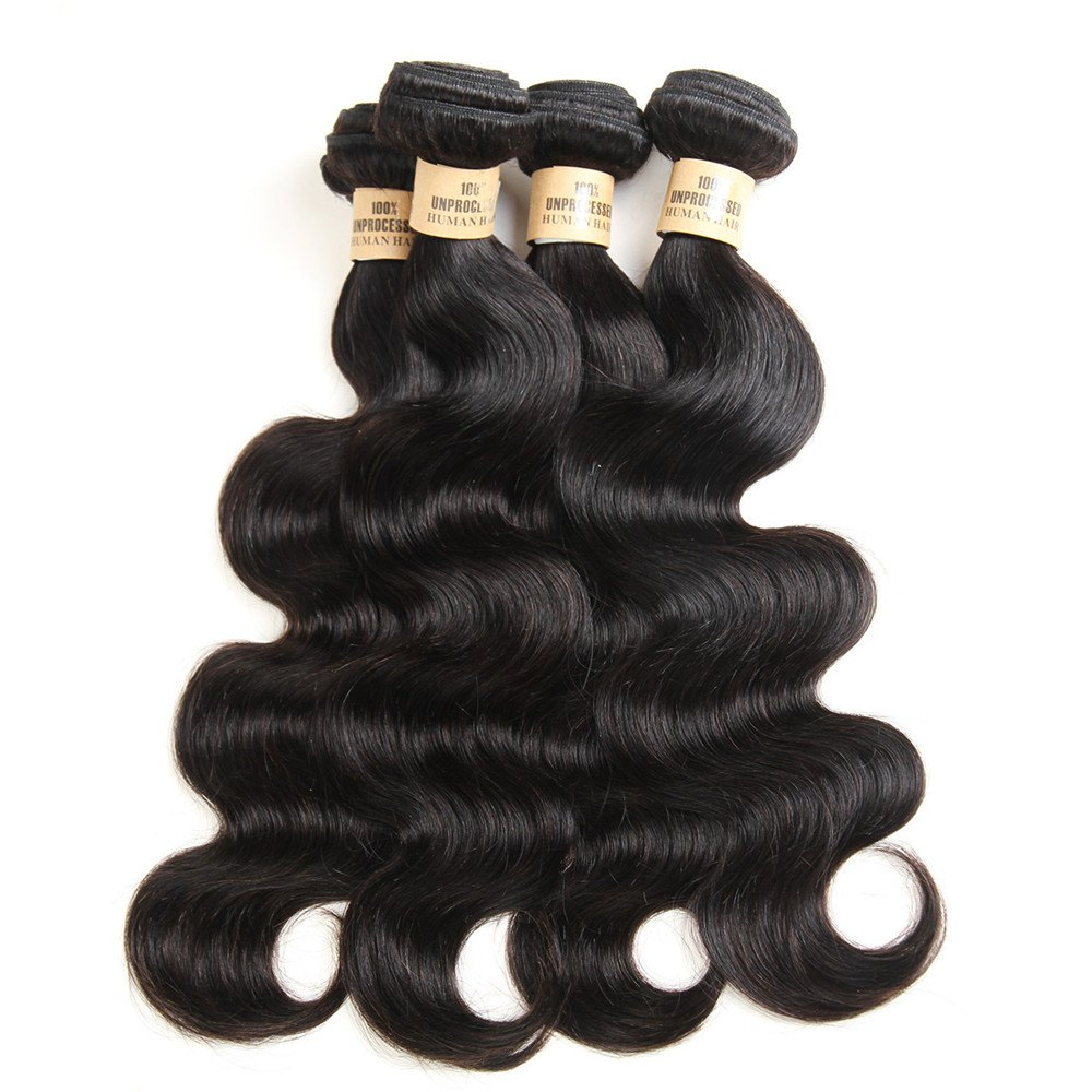 Body Wave 1 Pc/Lot 5A Remy Brazilian Hair Weave - BLACK 18INCH