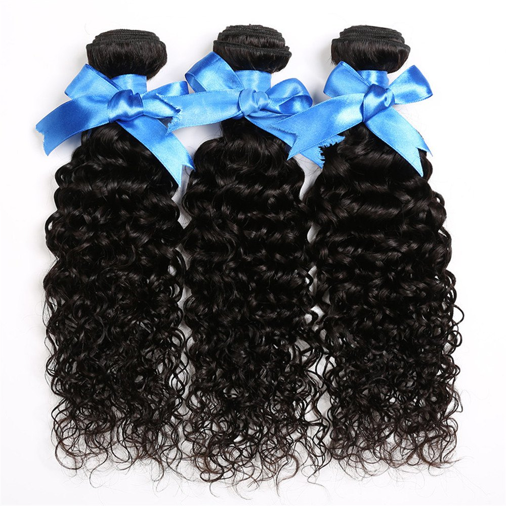 1 Pc/Lot Deep Curly 5A Remy Brazilian Hair Weave - BLACK 14INCH