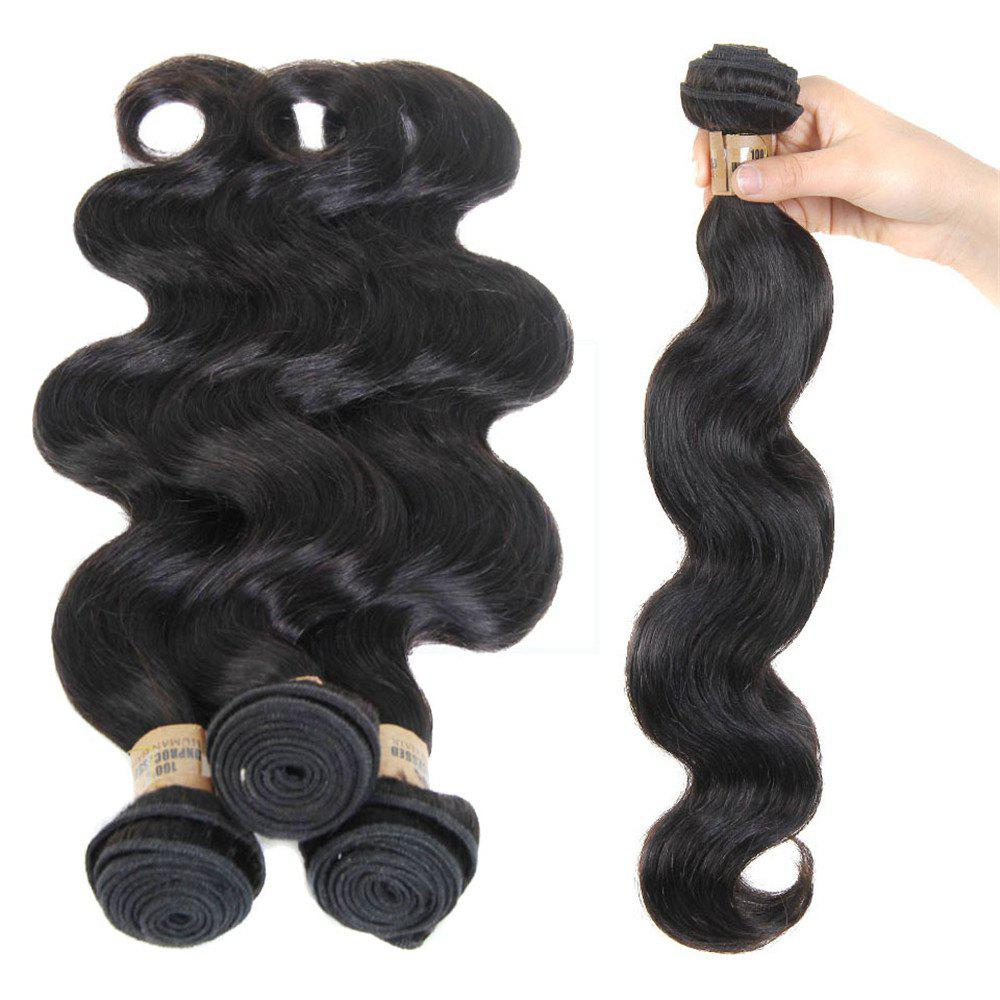 5A Remy 1 Pc/Lot Body Wave Brazilian Hair Weave - BLACK 26INCH