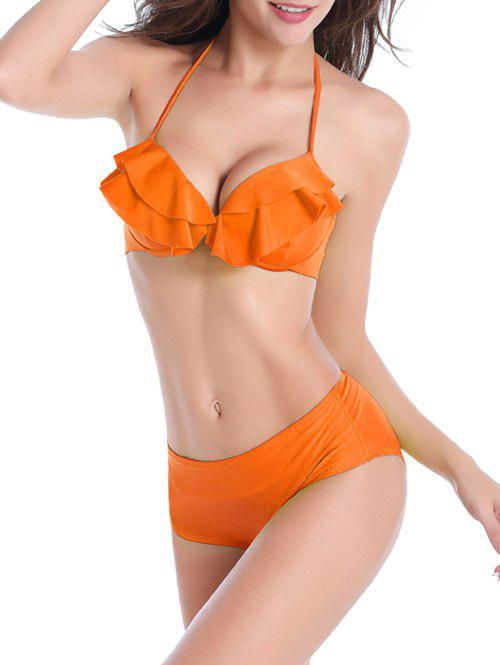 Bikini au crochet volanté - Orange M