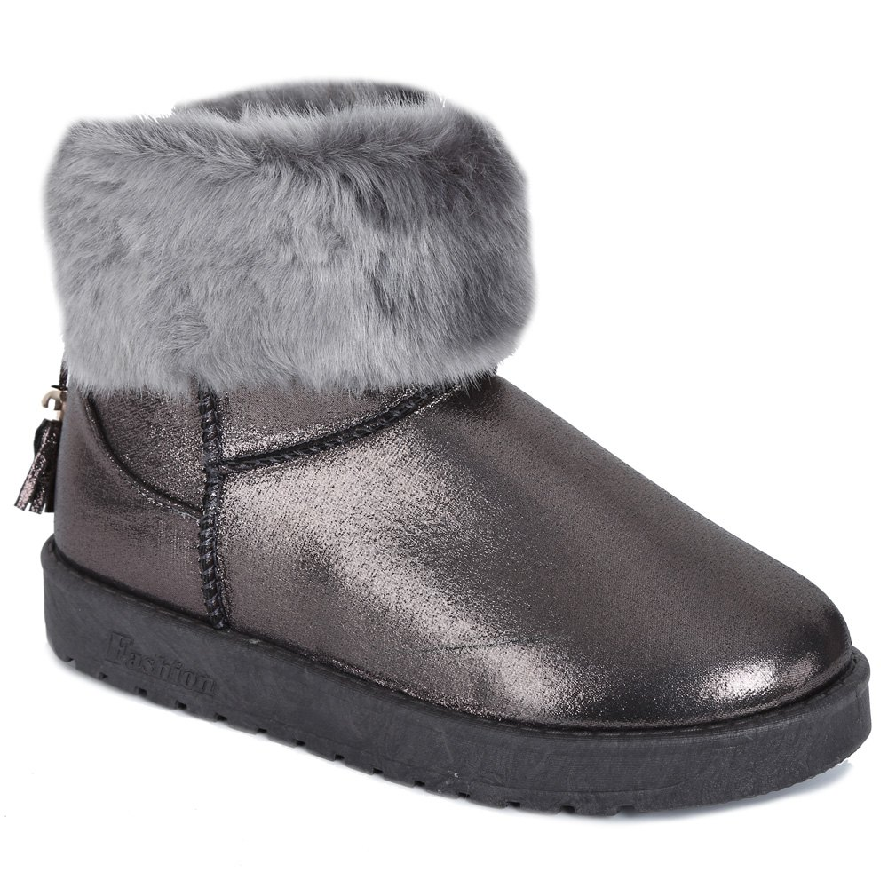 PU Leather Tassels Faux Fur Snow Boots handmade soft bottom fashion tassels baby moccasin newborn babies shoes 18 colors pu leather prewalkers boots