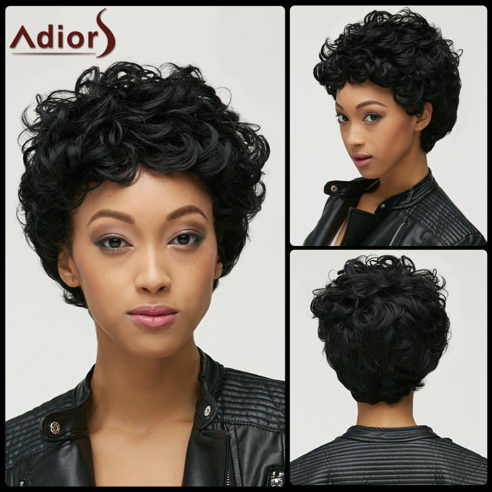 Fluffy Curly Synthetic Fashion Black Short Capless Wig For Women new short black curly wig afro african american wigs for black women star fashion synthetic hair free shipping