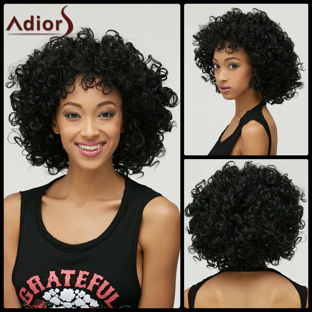 Afro Curly Short Synthetic Wig best quality afro curly synthetic lace