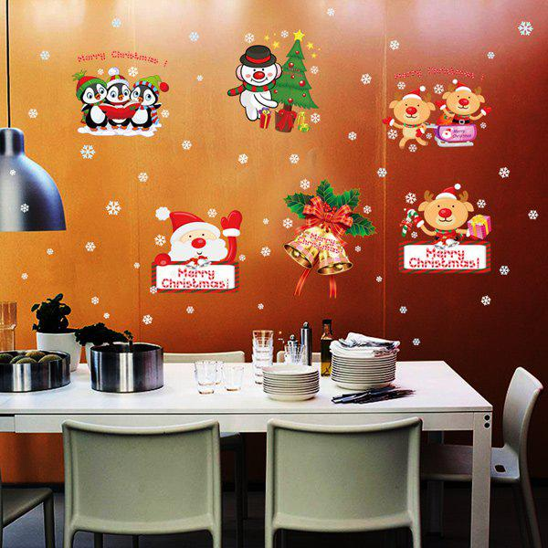 Merry Christmas DIY Removable Window Decor Wall StickersHome<br><br><br>Color: COLORFUL