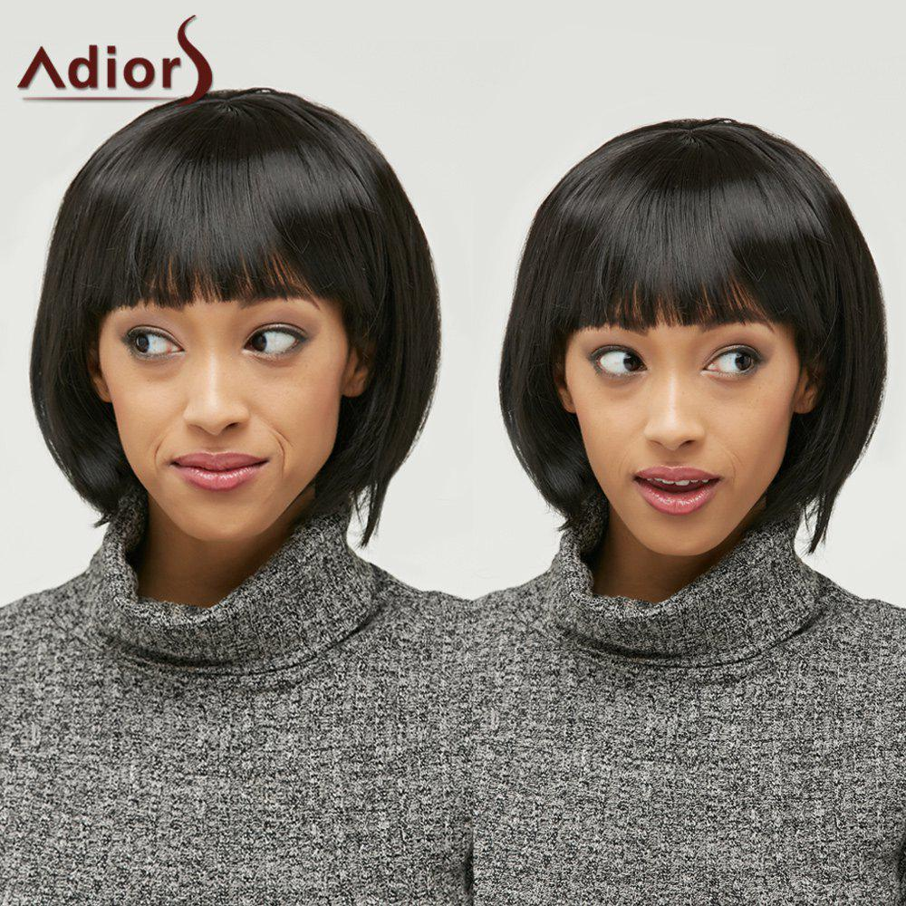 Elegant Short Synthetic Bob Style Straight Black Capless Wig For Women summer bob wig for black women brazilian