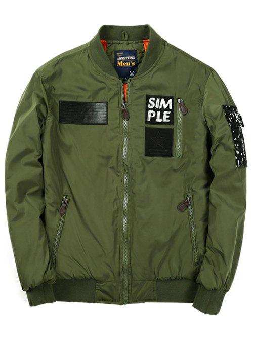 Stand Collar Multi Pocket Zip Up JacketMen<br><br><br>Size: XL<br>Color: ARMY GREEN