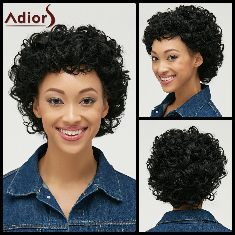 Cut Pixie Short Side Bang Curly Synthetic Wig