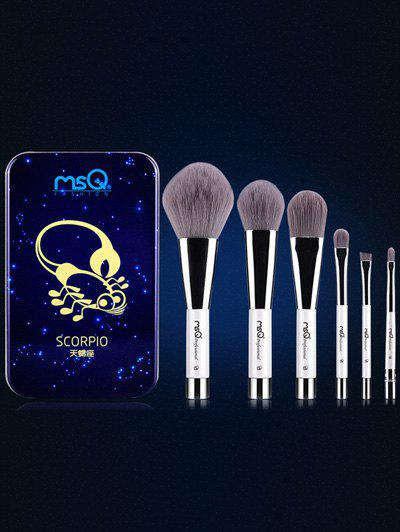 6 Pcs Scorpio Magnetic Makeup Brushes Set with Iron BoxAccessories<br><br><br>Color: BLUE