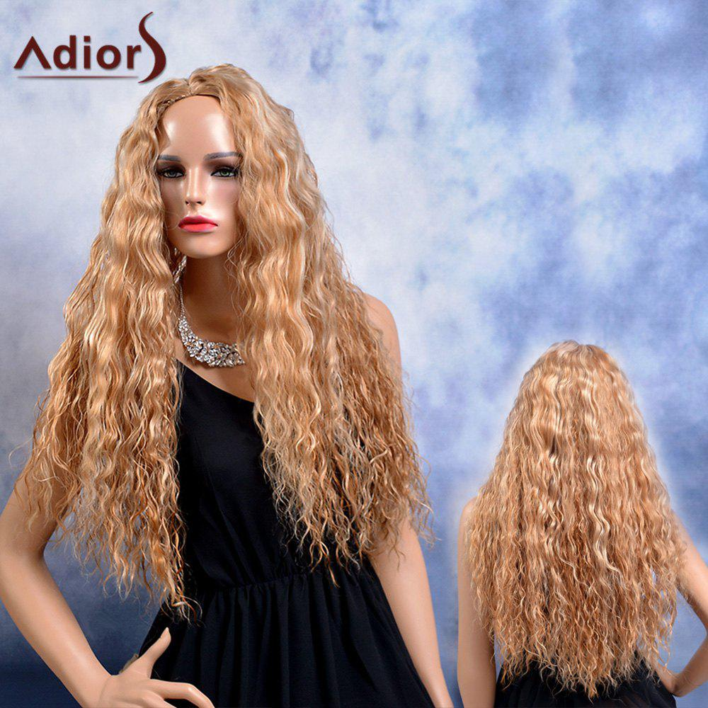 Adiors Long Shaggy Curly Highlight Middle Parting Synthetic Wig adiors long middle parting shaggy wavy color mix synthetic party wig