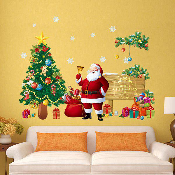 merry christmas removable xmas tree wall stickers